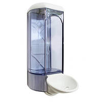 Дозатор мыла жидкого пластик прозрачный 0,8л с локтевым приспособлениемAcqualba