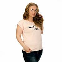Женская футболка турция дешево оптом пудра Bonjour