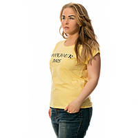 Женская футболка турция дешево оптом желтая Bonjour
