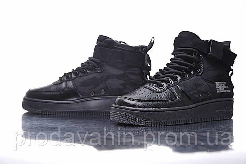 dd38d699 Модные мужские кроссовки Nike SF Air Force 1 Utility Mid All Black -  Интернет-магазин