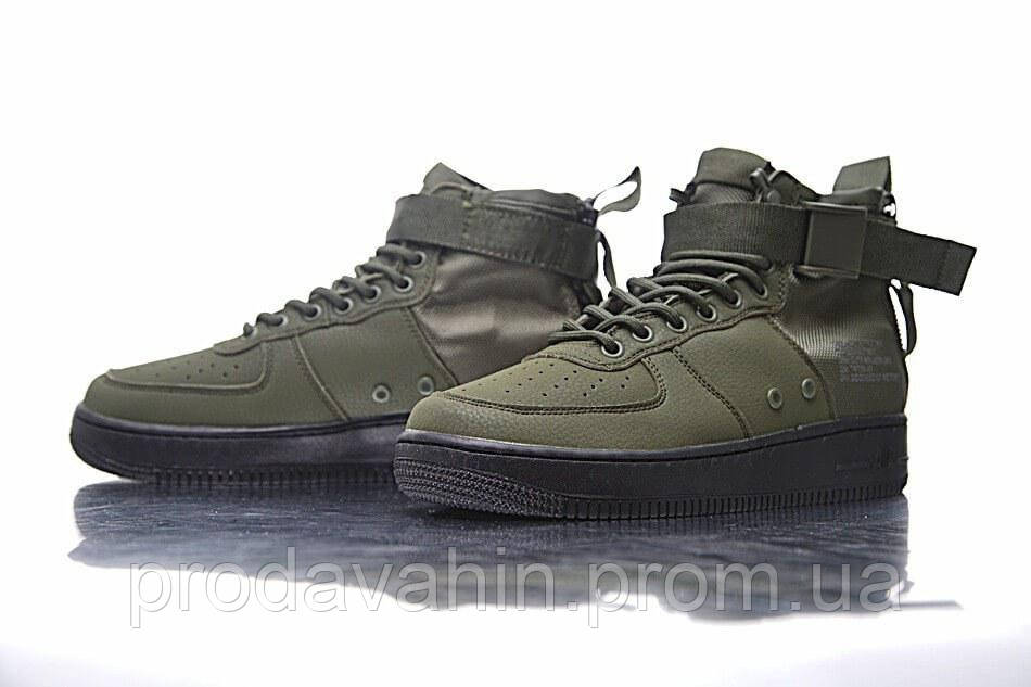 569532a8 Мужские кроссовки Nike SF Air Force 1 Utility Mid Haki/Black -  Интернет-магазин