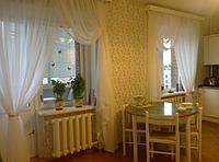 Тюль вуаль готовая в кухню