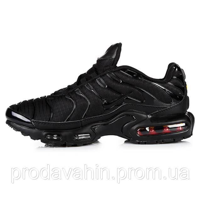 9a4495e8 Мужские кроссовки Nike Air Max TN Plus II All Black - Интернет-магазин