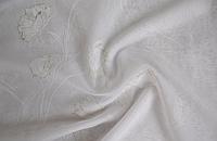 Тюль шифон Серебряные маки на белом Турция