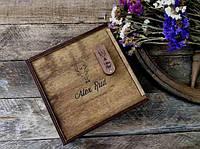 Деревянная упаковка для фотографий 15*20 и флешки, фото 1