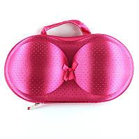 Кейс (чехол) для бюстгальтеров  Розовый в точечку, фото 1