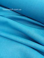 """Льняная сорочечная ткань """"Aquamarine Turquoise"""", фото 1"""