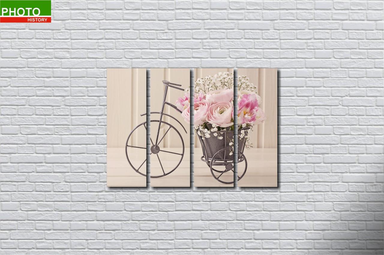 Модульная картина горшок с цветами