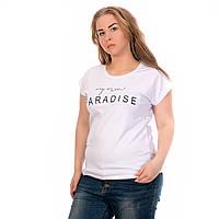 Женская футболка Котон Турция белая Paradise
