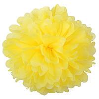 Помпон из тишью. Цвет: Жёлтый. Размер: 30см.