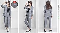 """Костюм Yavorsky """"Флоренс"""" женский модный пиджак на подкладке и брюки костюмная ткань DY780"""