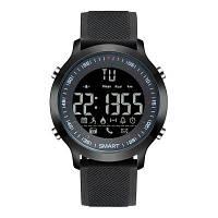 GIMTO цифровые военные электронные наручные смарт LED часы с шагомером для мужчин и женщин Чёрный