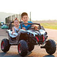 Детский электромобиль GRIZZLY XM 603: 4x4, EVA, 2x12V 7A, USB. Эко-кожа - БЕЛЫЙ - купить оптом