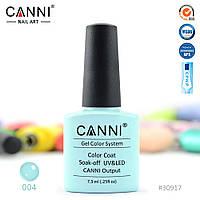 Гель-лак Canni 4 нежный бирюзовый 7.3ml