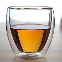Стакан для кофе чая кружка чашка с двойной стенкой 250мл Прозрачный