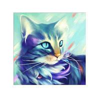 Naiyue 9870 Color Cat Print Draw Алмазный рисунок Цветной