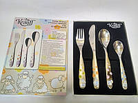 Набор детских столовых приборов  4 предмета Krauff 29-189-041