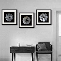 Специальная конструкция Каркас Картины Круглая нить Печать 3PCS 12 x 12 дюйма (30cм x 30cм)