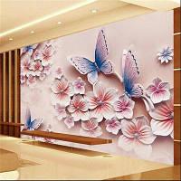 Обои 448x280 см 3D Холст Волны Обои Mural Photo Flower XXXL