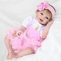 Reborn Doll Emulational Baby Girl Силиконовые игрушки для раннего образования Цветной