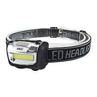 HKV COB Светодиодный головной фонарь мини-налобный фонарь непромокаемый фонарик для наружного кемпинга холодный белый