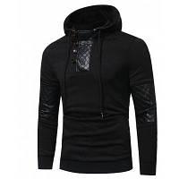 2017 Новый большой размер мужской моды Patchwork с капюшоном прилив мужской тонкий длинный рукав с капюшоном куртка XL