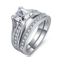 Кубическое циркониевое свадебное обручальное кольцо с бриллиантами 5.25