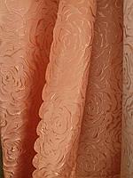 Жаккардовая портьерная ткань с набивным узором для зала и спальни, бежевая