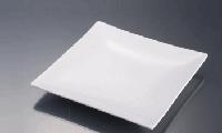 Тарелка квадратная без борта 20,3см фарфор Китай вF0007-8 ас.