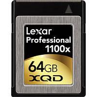 Карта памяти Lexar 64GB XQD Professional 1100x Memory Card