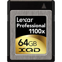 Карта памяти Lexar 64GB XQD Professional 1100x Memory Card, фото 1