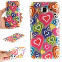 Цвет Любви Мягкий прозрачный IMD Корпус для телефона TPU для мобильного телефона Смартфон Корпус для Samsung J5 2015 цвет