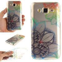 Фэнтези Цветы Мягкая прозрачная IMD ТПУ Корпус для телефона Мобильный смартфон Обложка Корпус для Samsung J5 2015 цвет