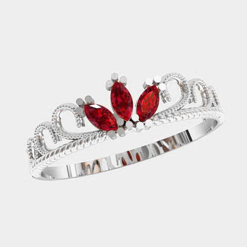 Кольцо  женское серебряное Принцесса KE-1531