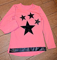 Качественная туника для девочек подростков с звездочками
