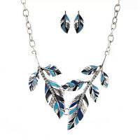 Женские ювелирные изделия женщин ожерелье Уникальные свитера цепи свитера цепи свитера Синий