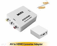 Конвертер AV на HDMI 1080p