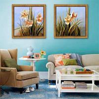 Специальная конструкция Каркасные картины Water Flowers Print 2PCS 16 x 16 дюймов (40cм x 40cм)