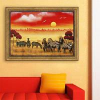 Специальные рисунки рамы Zebra Print 20 x 14 дюймов (50cм x 35cм)