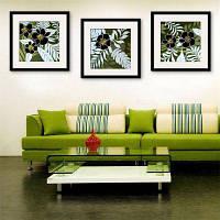 Специальная конструкция Каркасные картины Элегантная Плам Блоссом Печать 3PCS 12 x 12 дюйма (30cм x 30cм)