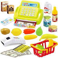 Дети Многофункциональное моделирование Супермаркет Кассовый аппарат Игровой дом Игрушки Зелёный цвет