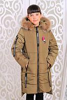 Стильная куртка для девочки Доминика хаки