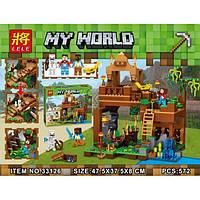 Конструктор Lele My World 33126 Алмазная башня (аналог Lego Майнкрафт, Minecraft)