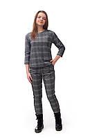 Подростковый костюм для девочки (кофта и брюки), серого цвета
