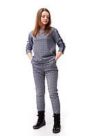 Брючный костюм для девочки (кофта и брюки), светло-серого цвета