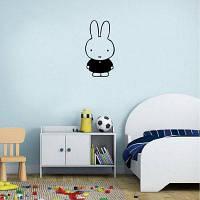 Kid-10 Симпатичный кролик Силуэт Виниловые наклейки на стенах Мультфильм Виниловые наклейки Домашний декор 7.8 x 15cм