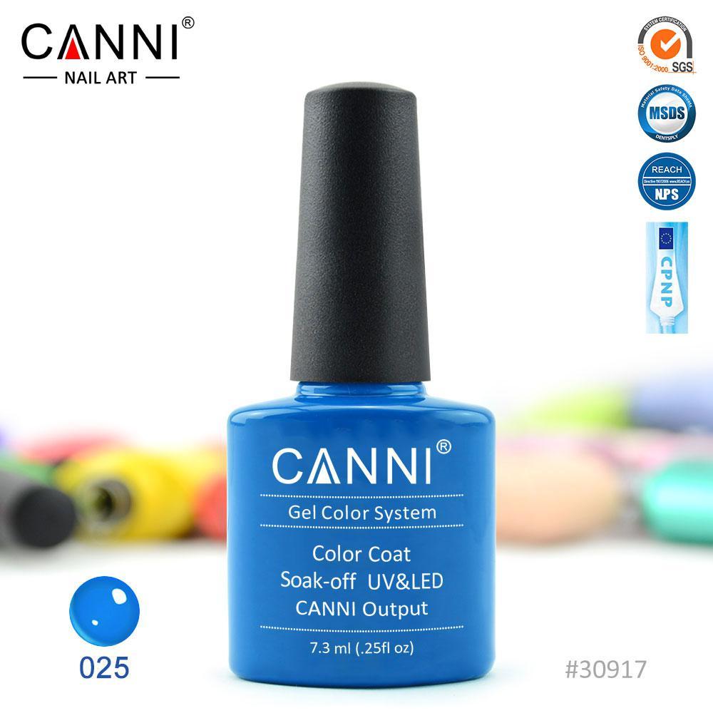 Гель-лак Canni 25 светло-синий 7.3ml