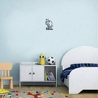 Kid-1 Baby Спящий виниловый наклейщик на стене Cute Sleeping Rabbit для детской комнаты 13.4 x 9.1cм