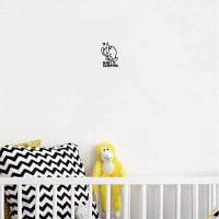 Собака-58 Собака и лапы Стикер стены Креативные мультфильм животных Виниловые стены Декоративные наклейки 18x9cм