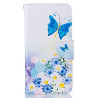 Синий шаблон бабочки Роскошный стиль PU кожаный чехол для мобильного телефона флип-обложка для iPhone 6 / 6s Синий